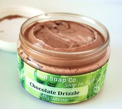 chocolate whipped soap