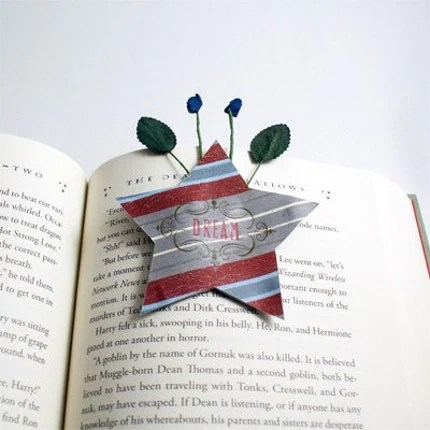Dream Star-shaped handmade bookmark