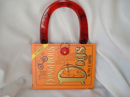 Sweet Dog Lovers Purse Recycled Orange Book