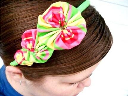 Colorful  Stripes Yo Yo Headband