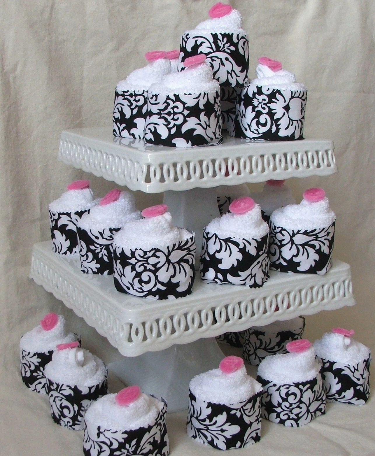Wedding Pack, Cupcake washcloth favor, set of 50
