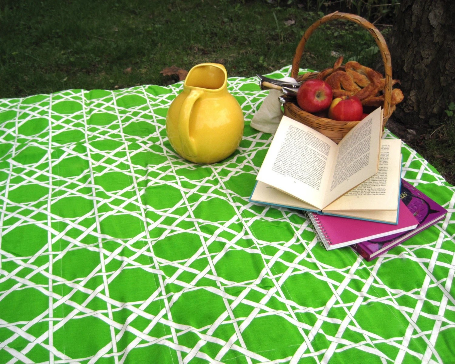 Upcycled Vintage picnic blanket by SewnNatural