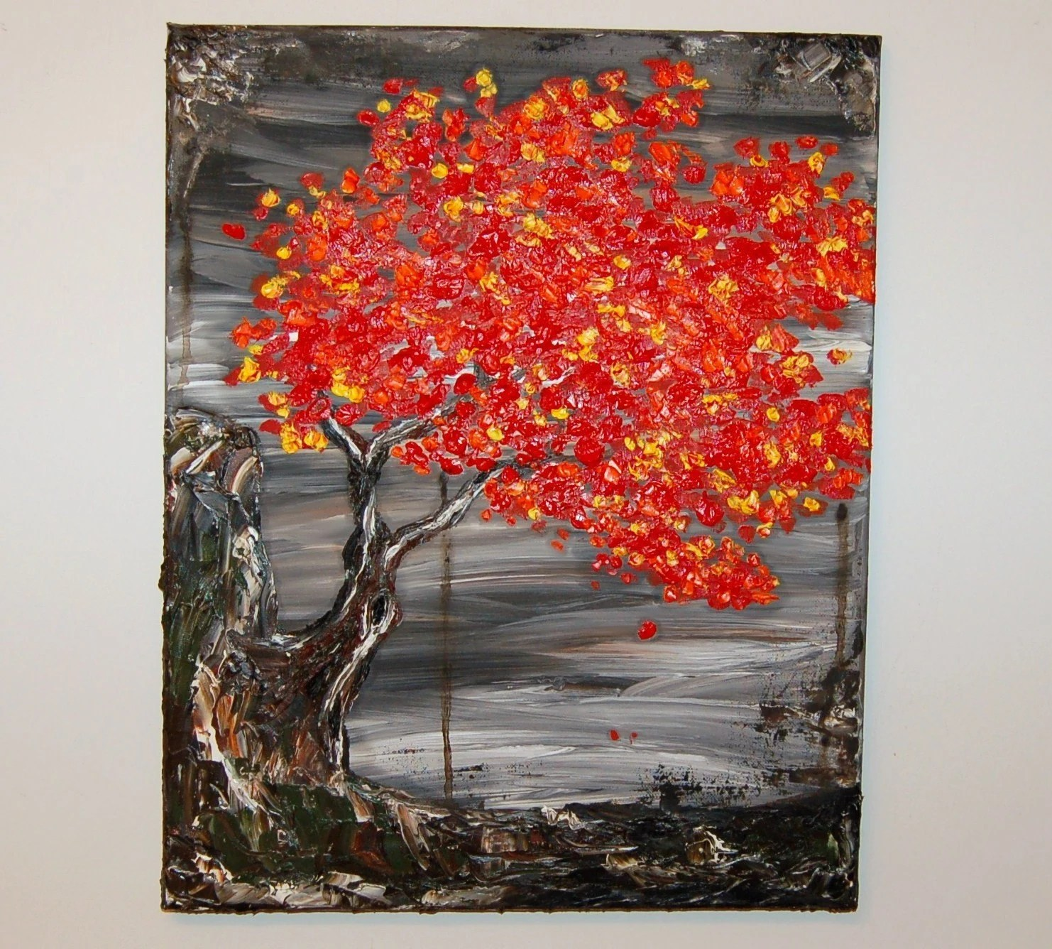 Acacia Fire 4 Original Oil Painting