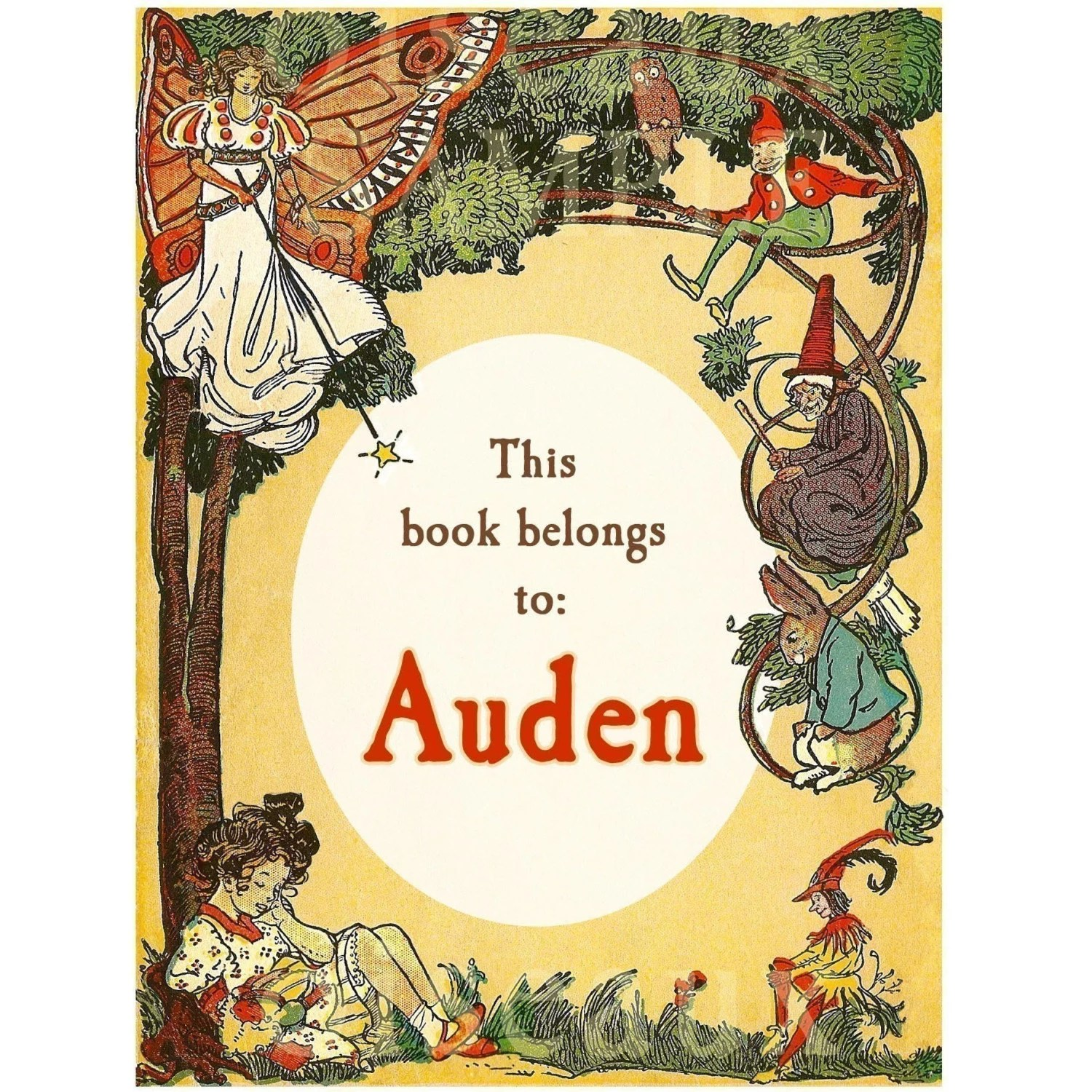 Vintage Fairytale Personalized Bookplates