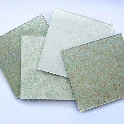 Elegant Green Plexiglass Coasters - Set of 4