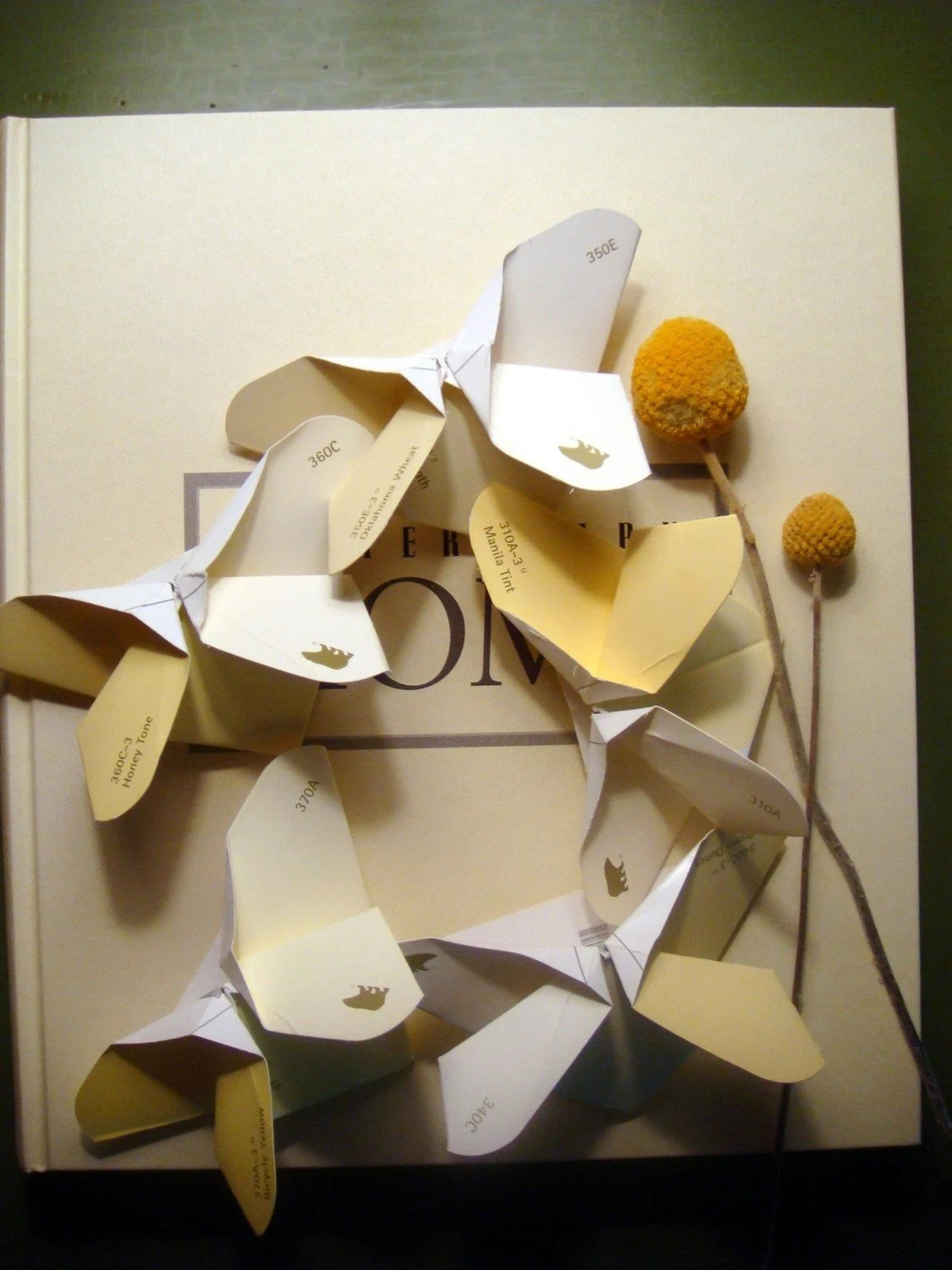 Origami Butterflies in Shades of Yellow
