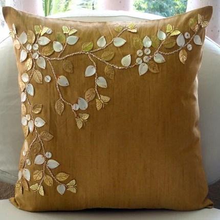 Gold Dreams Throw Pillow Cover