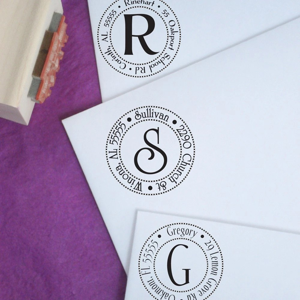 Small Circles N Circles Customized Address Stamp