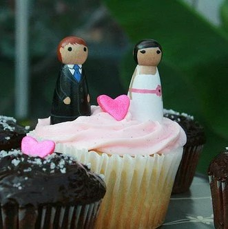 Custom UnNaked Cupcake Toppers - Fully Customizable to match you and your mate