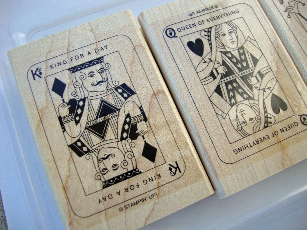 Card Games, Stampin UP Stamp Set, DESTASH