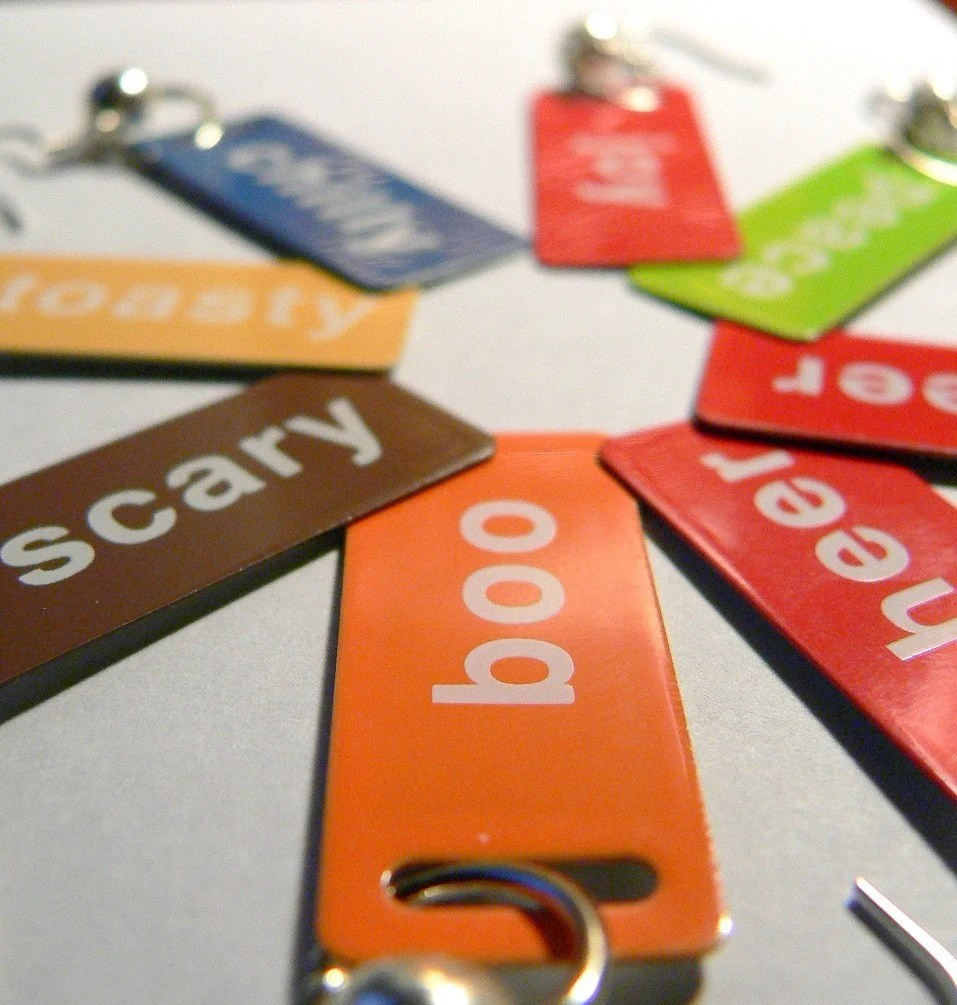 Scary and Boo...Just for Fun ID Tag Halloween Earrings...