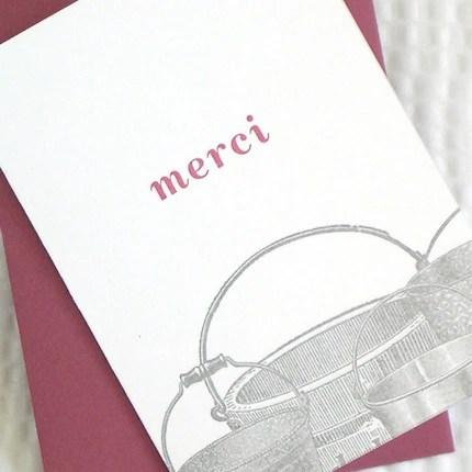 Merci Buckets thank you card by armatodesign