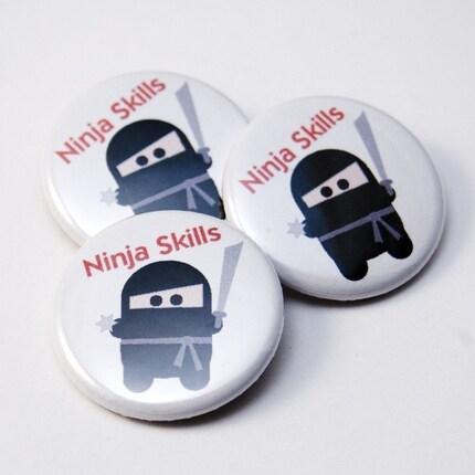 Ninja Skills pinback button