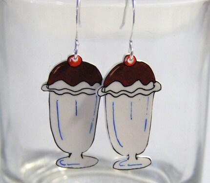 Chocolate Fudge Sundae Earrings