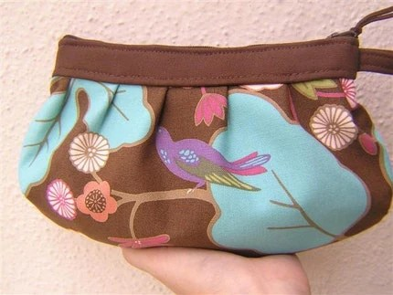 Jan bag Wristlet - flower and birds