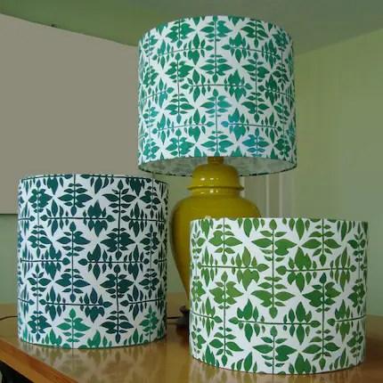 Leaf Weave- Block Printed Lampshade