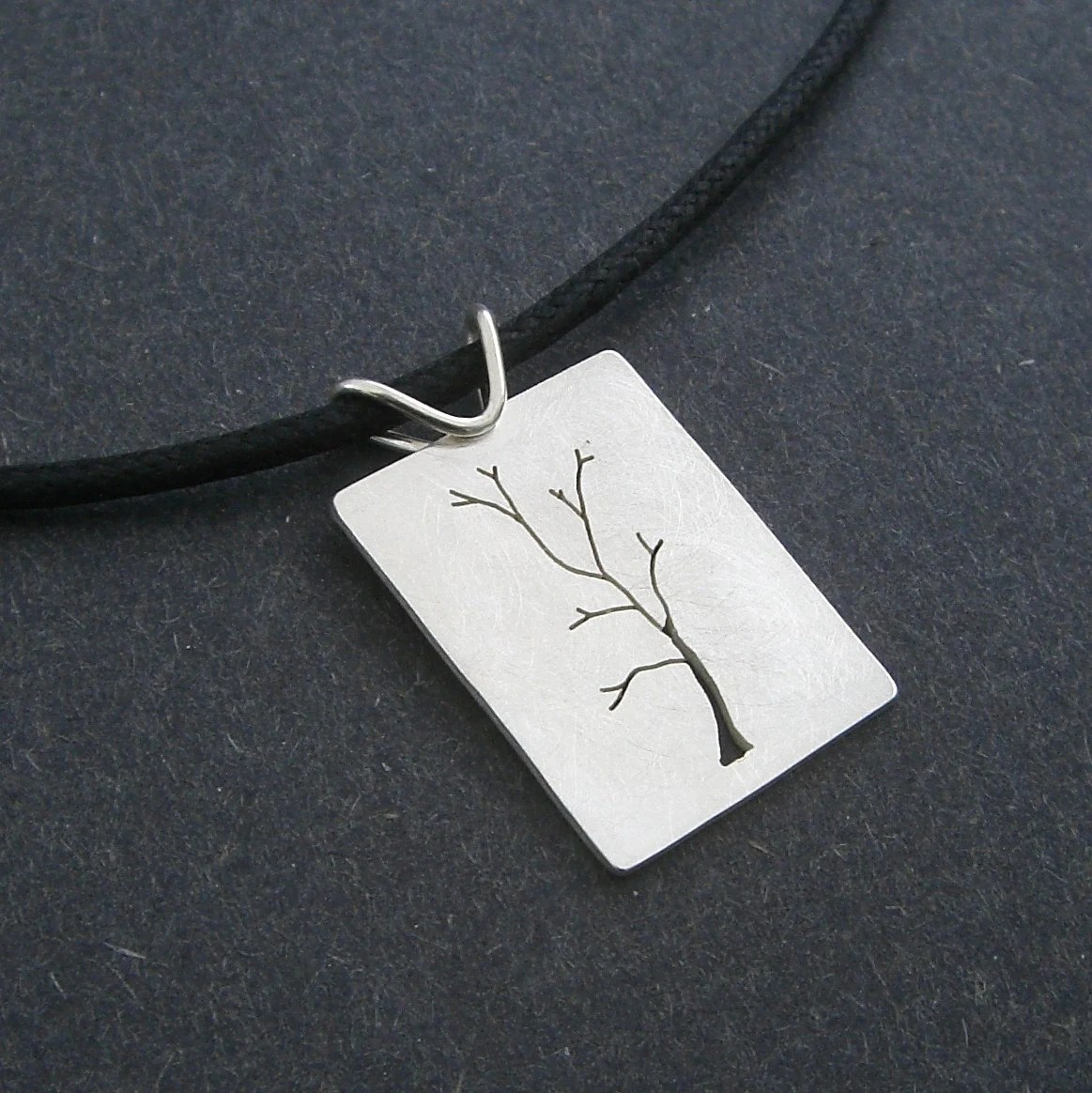 Hand Sawn Sterling Silver Tree of Life