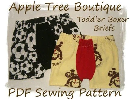 Toddler Knit Boxer Briefs Sewing Pattern PDF epattern
