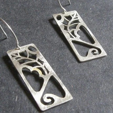 Sterling Silver Scrub Oak Earrings