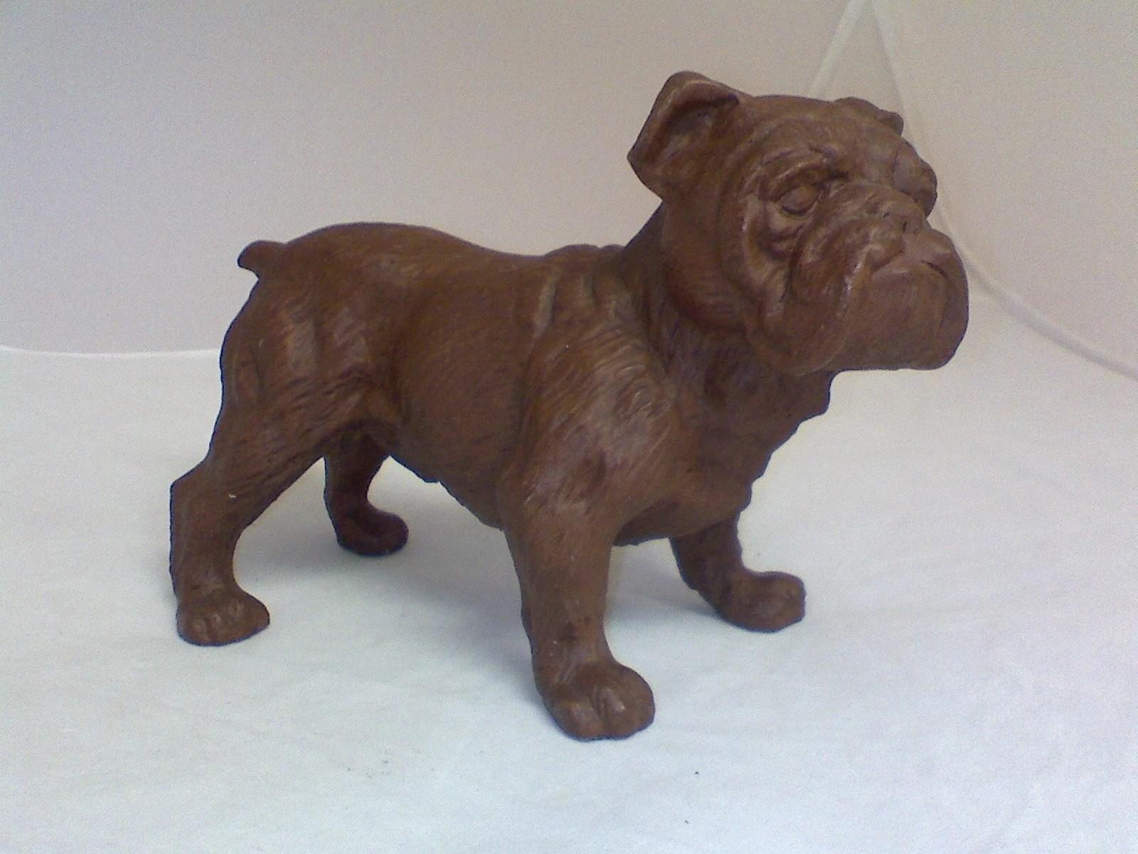 Heavy Realistic Bulldog Figurine