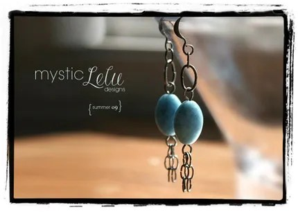 MysticLeluDesigns makes handcrafted jewelry. These turquoise earrings are just one listing out of many beautiful options in her shop.