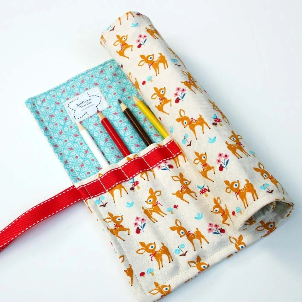 Pencil Roll/Organizer - Fawns in the Forest