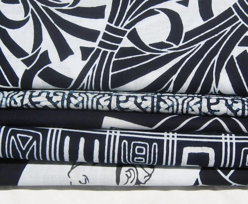 5 pack cotton indigo fabric