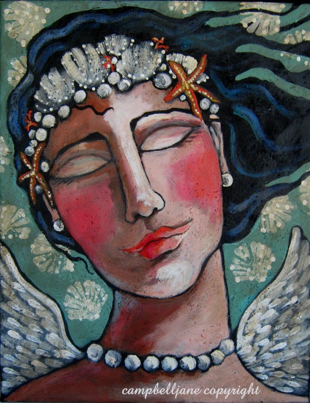 Mermaid Beach Angel Original Painting
