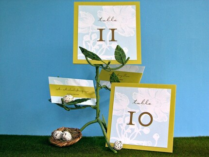 Table Numbers and Escort Cards