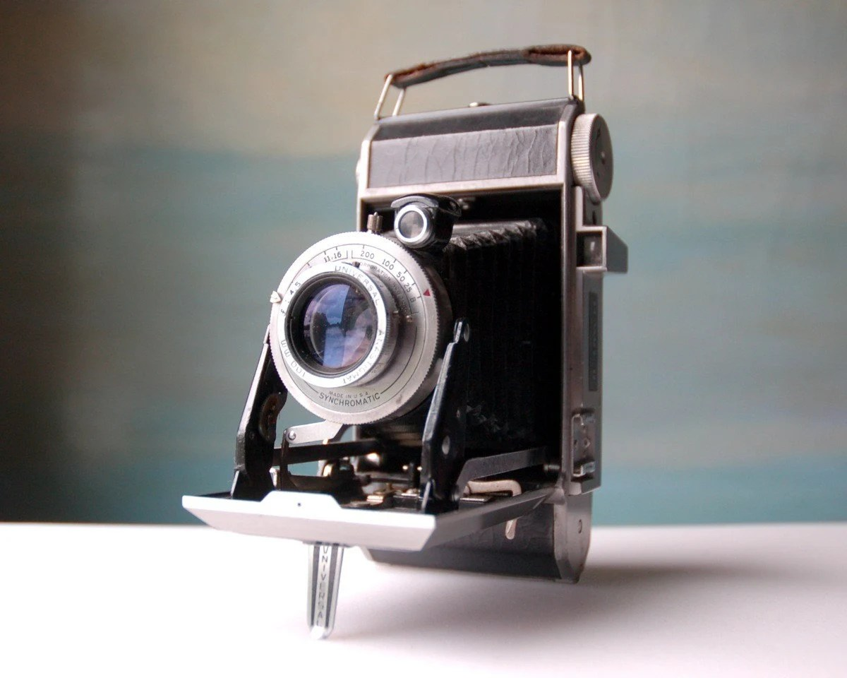 Vintage Folding Camera. Classic Style and Decor Piece