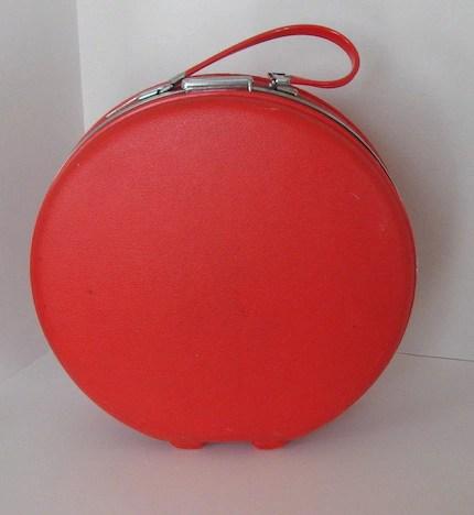 Vintage American Tourister Tiara Red Round Suitcase
