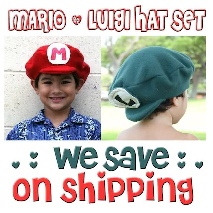 Mario and Luigi Hat Set Listing