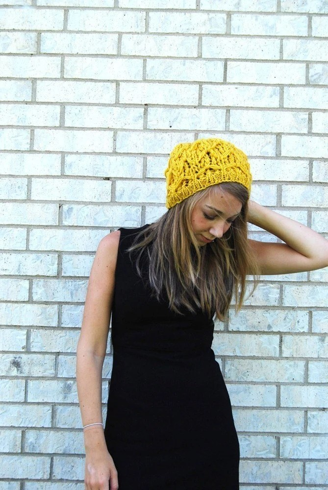 im realizing im sort of obsessed with this mustard color. waffle cone by yesjess, $18.