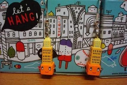 Orange SkyScraper Earrings