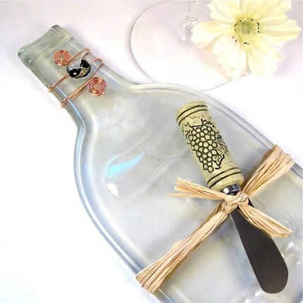 Eco Friendly Flattened Wine Bottle Serving Tray