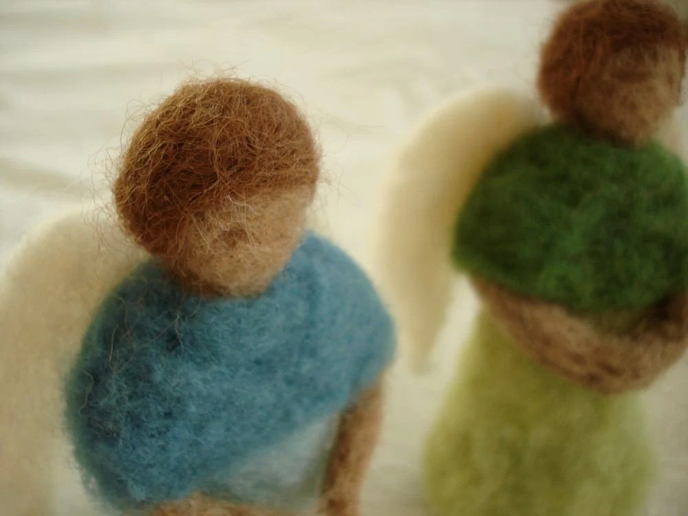 Felted Wool Angels