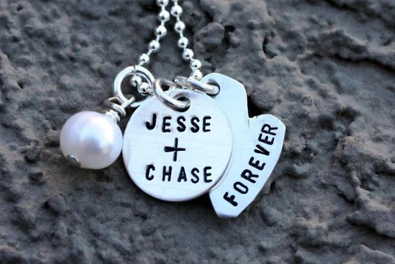 COUPLES Custom Sterling Silver Forever Necklace