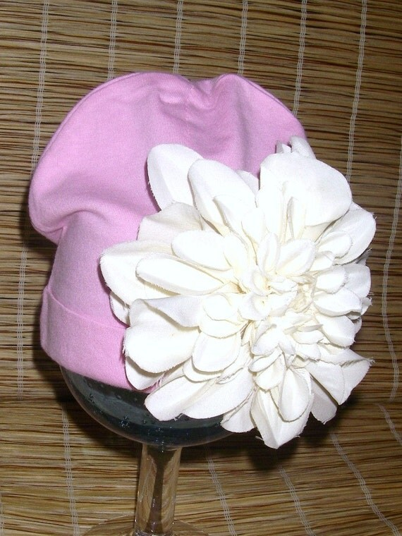 Newborn Spunky Pink Flower Hat