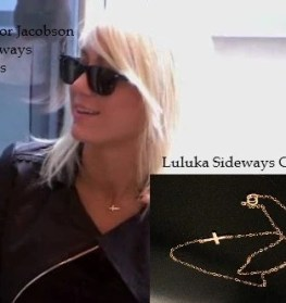 Taylor Jacobson Tiny Sideways Cross in 14kt Gold Filled on Gold Filled Chain