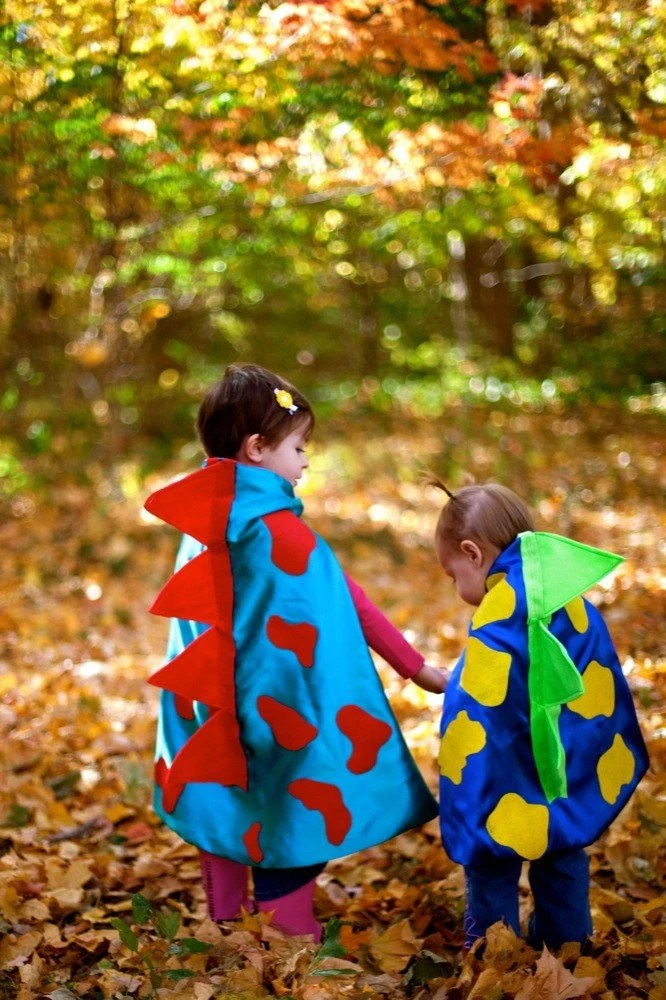 Halloween Dinosaur Cape with 3d scales for kid either a boy or a girl