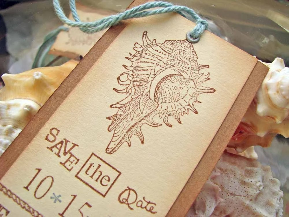 Save the Date Bookmarks Beach Themed