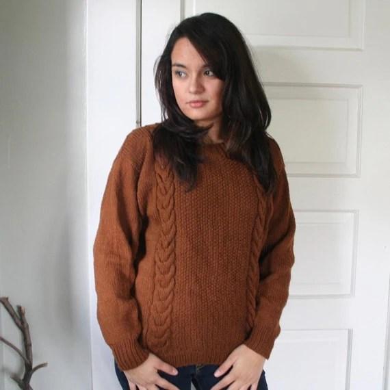 Vintage Brown Knit Sweater