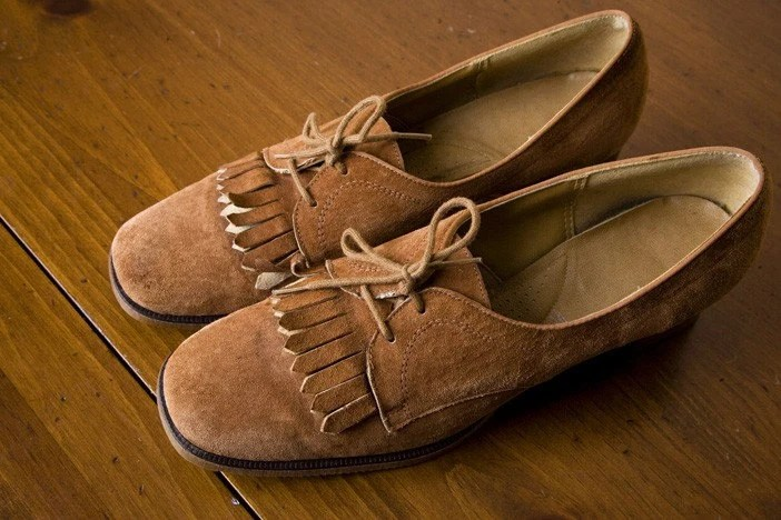 Honey Suede Oxfords