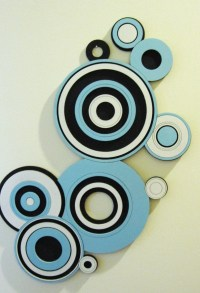 Circle Wall Art black white and blue by ...