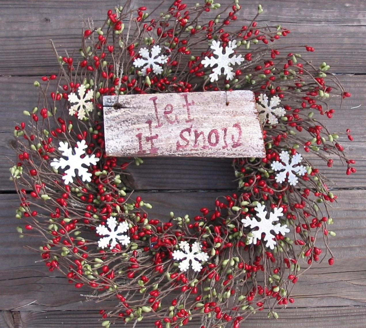 Holiday Wreath - Let It Snow