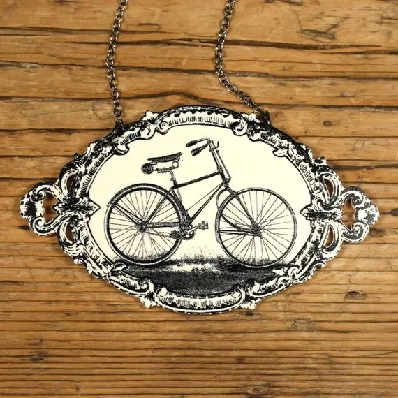 Bicycle Necklace by MamasLittleBabies