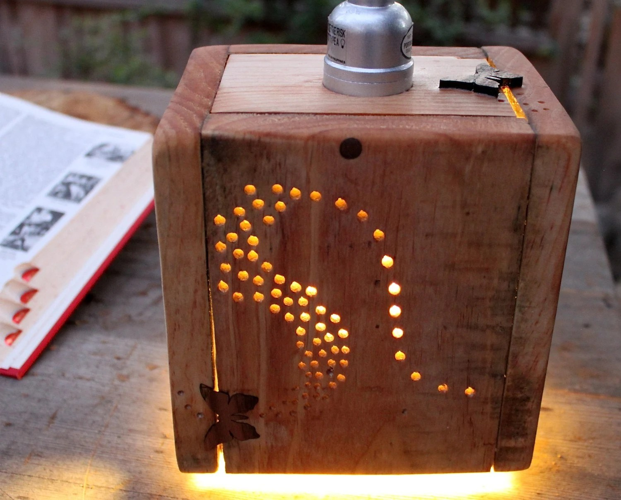 Rustic Pallet Wood Pendant Lamp