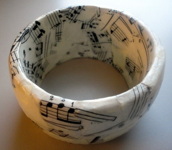 Recycled Vintage Music Bangle