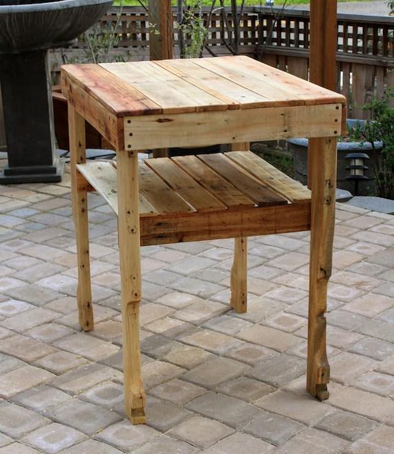 Rustic Pallet Wood Serving Table