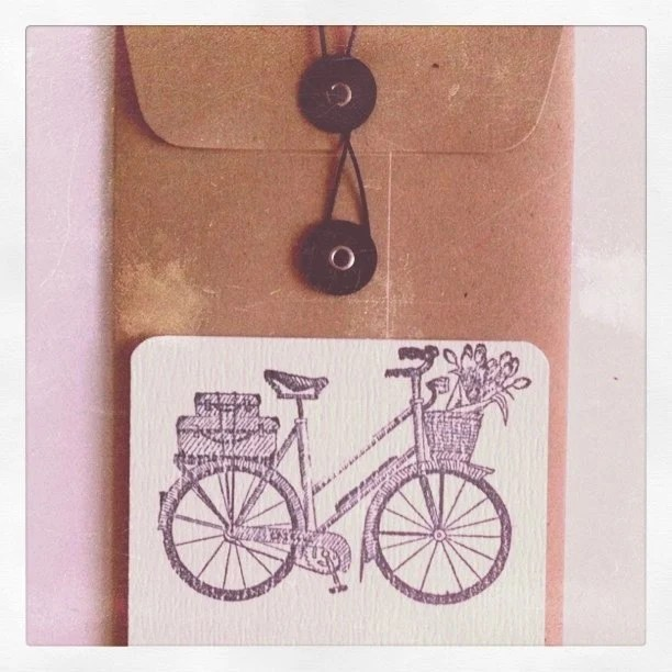 Letters of Love Stationery //Bike// Set of 8